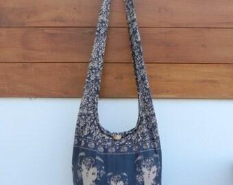 Ganish Hindu Bag, Indian God Bag, Thai Bag, Crossbody Bag, Hobo Bag, Bohemian Purse, Market Bag, Travel Bag, Small - You Pick Color