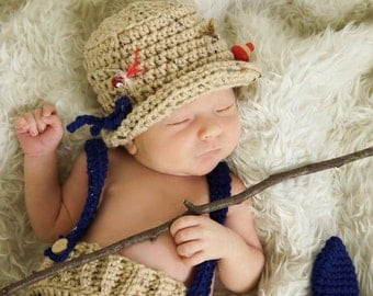 Newborn Fishing Crochet Set