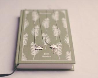 Silver raincloud pendant necklace, brushed silver cloud necklace