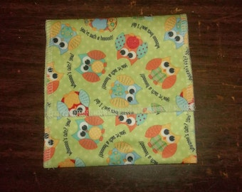 Nursing pad pouch Made with PUL in a cute OWL design