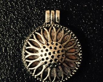 Antique Silver Flower Locket Pendant