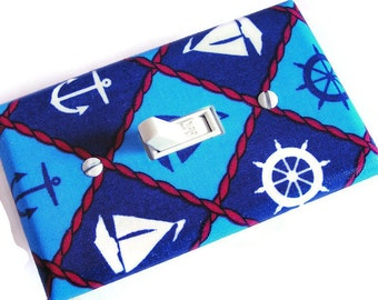 NAUTICAL Light Switch Cover Plate Switchplate Nautical Decor