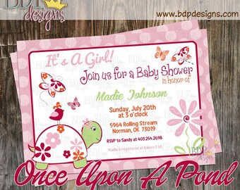 Cocalo Once Upon a Pond Baby Shower Invitation - Customizable Digital Download OR Prints (Details Below)