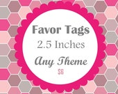 DIY Digital File - Party Circles for Favor Tags, Stickers Or Larger Sized Cupcake Topper