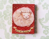 Custom Listing for Bonnie - Ewe Are Awesome Magnet by Megumi Lemons