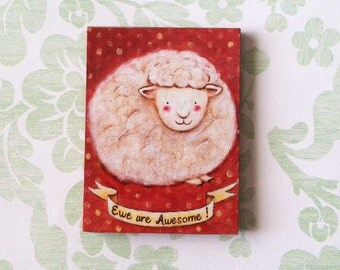 Ewe Are Awesome! Magnet by Megumi Lemons