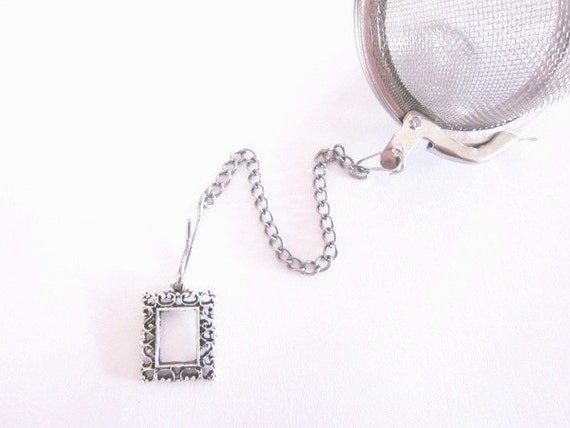 Tea Infuser with Empty Picture Frame Charm -2 Inch Mesh Tea Ball