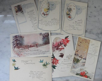 Antique early 1900's postcards set of seven