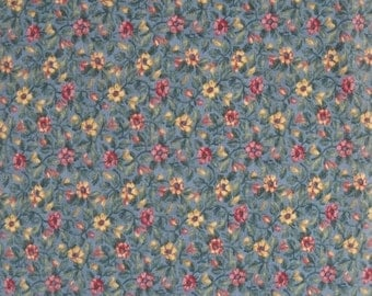 Natures Tranquility Blue Meadow Brushed Cotton Fabric, by Cheri Strole, for Moda Fabrics, 100 Percent Cotton, 1 yard cut