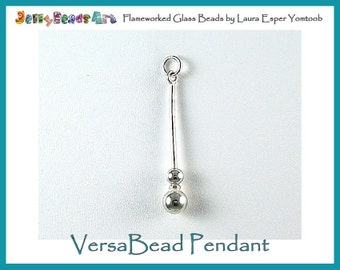 VersaBead PENDANT - sterling silver bead holder