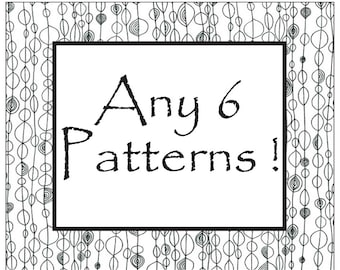 ANY 6 PATTERNS special Price - Discount