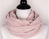 Peach Infinity Scarf, pastel peach scarf, cotton scarf, peachy infinity scarf, circle scarf, peach pink, textured scarf
