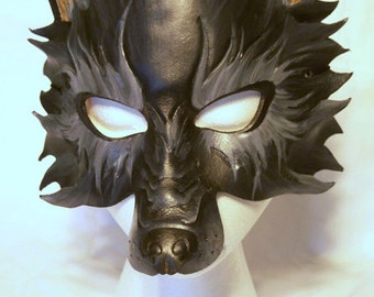 Wolf Mask with Full Snout