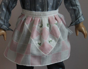 Apron Upcycled from Vintage Hanky for 18 Inch Doll, AP132