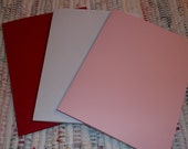 Blank Cards Red, White, and Pink and Envelopes   Set of 12