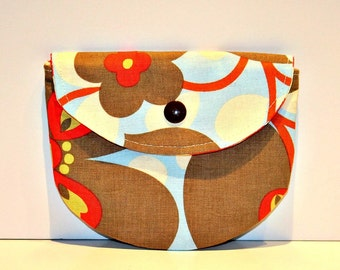Amy Butler Lotus Pacifier Pouch, Pacifier Pouch, Pacifier Holder, Coin Purse, Small Wallet, Card Holder, Small Wallet, Binky Pouch