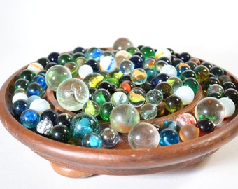 Vintage Lot 2lbs Marbles Estate Find Craft Jewelry Supplies Glass Collectible