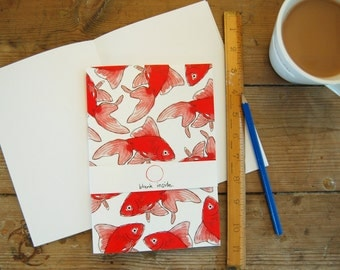 Goldfish Unlined Notebook