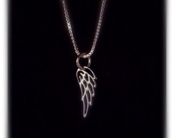 Memorial Necklace - Angel Wing Necklace - Sterling Silver Angel Wing Necklace - Sympathy Jewlery - Bereavement Jewelry - Miscarry Jewelry