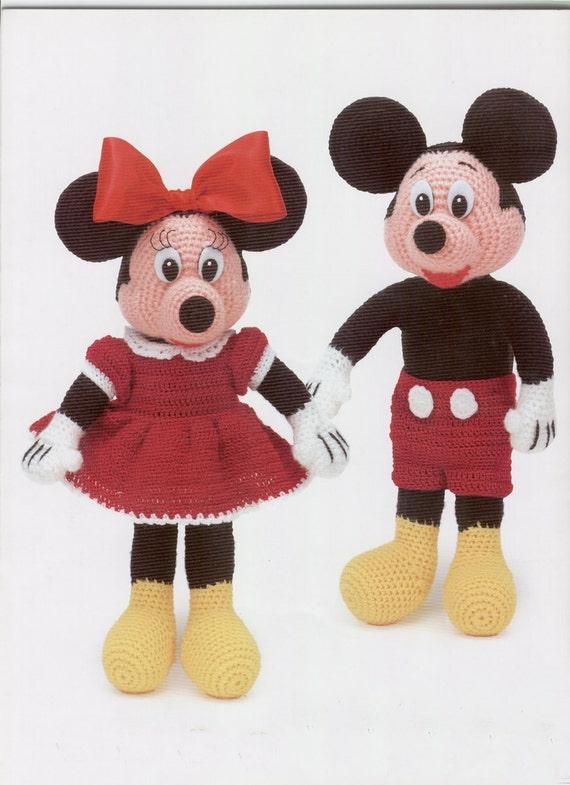 Mickey Mouse Baby Amigurumi : E book Mickey and Minnie Mouse Amigurumi Pattern