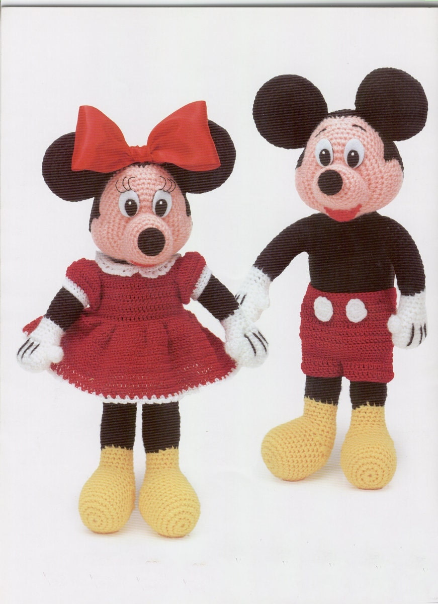 Baby Mickey Amigurumi Pattern : E book Mickey and Minnie Mouse Amigurumi Pattern