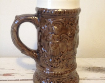 "New Item dollar Store Large Size Stein 70's ""TO JOHN lOVE MOM"" 1973"
