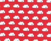 Airmail Love Above in Love Red, Eric and Julie Comstock, Moda Fabrics, 100% Cotton Fabric, 37103 13