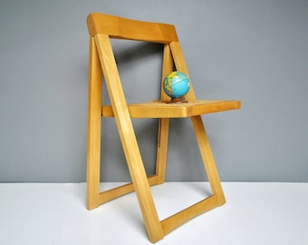 Vintage Folding A-Frame Folding Chair - Caned Folding Chair - Extra Seating