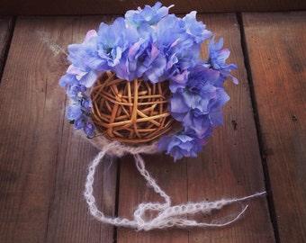 The Purple Flower Bonnet. Choose your size. Great photo photography prop. Sitter