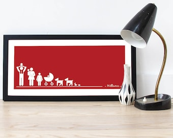 Personalised Family Line Up Print