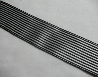 BLACK  and WHITE stripes RIBBON
