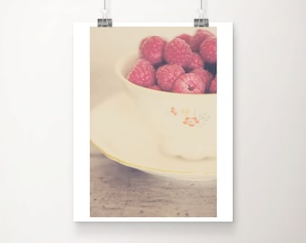 raspberry photograph food photography kitchen wall art raspberry print fruit photograph fruit print still life photography