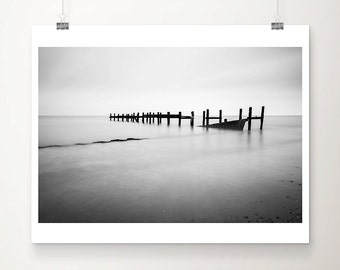 black and white photography ocean photograph beach photograph minimalist decor ocean print beach print coastal print