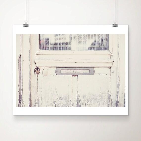 paris photograph paris decor white door photograph paris print french decor white door print letter box photograph france photograph