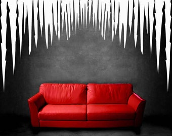 Icicle, Winter, Snow, Ice, Christmas Decorations, Cold, Window Treatment, Wall Decal, Wall Sticker, Vinyl, Wall Art, Business, Retail Decor