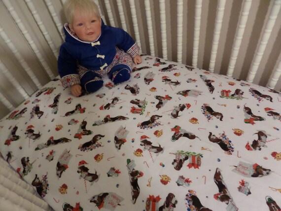 Items Similar To Bassett Hound Dog Santa Baby Crib Or
