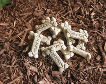 Concrete MEDIUM DOG BONES (Set of 10)