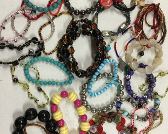 SALE! Bracelets Stretch Beads Vintage lot 289
