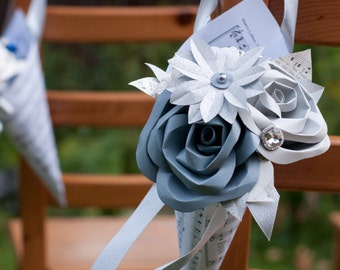 Wedding Paper Cone Aisle Marker Decoration