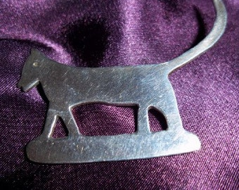 Adorable Vintage Sterling Silver 925 Kitty Cat Pin