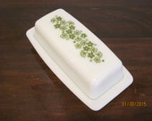 "Pyrex ""Spring Blossom"" Butter Dish with Lid"