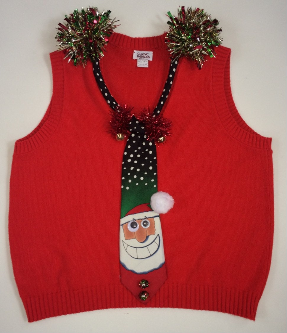 Ugly christmas sweater vest mens