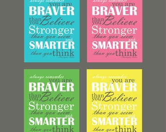 Christopher Robin Quote Paper Typography Print