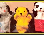 Instant Download - PDF Knitting Patterns for Sooty Soo and Sweep Glove Puppets