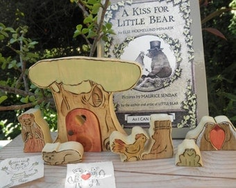 A Kiss For Little Bear Wooden Toys- Book Set Story Book Series