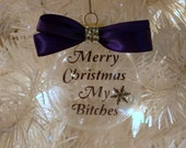 Glass Floating Christmas Tree Ornament Sisters Friends Gift
