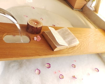 5th Anniversary Gift, Bathtub Caddy Extra Long, Valentines Day Gift,  Motheru0027s Day Gift For Her,