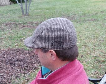 Gift For Men, Monogrammed Men's Flat Caps, Paper Boy Hat