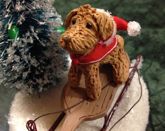 Miniature tabletop Christmas decoration of your dog