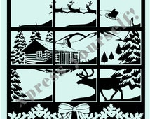 Christmas SVG, Smokey Mtn Christmas Digital Cut File ~ SVG and PNG